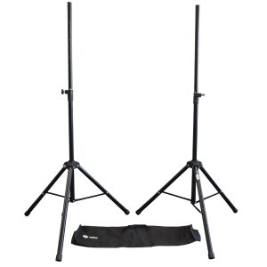 QTX Heavy Duty Speaker Stand Kit with Bag