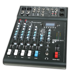 Studiomaster Club XS 6+ Compact Analog Mixer with Bluetooth