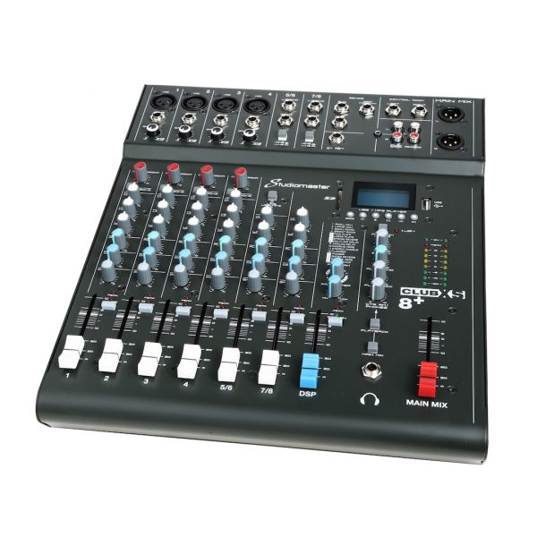 Studiomaster Club XS 8+ Compact Analog Mixer with Bluetooth