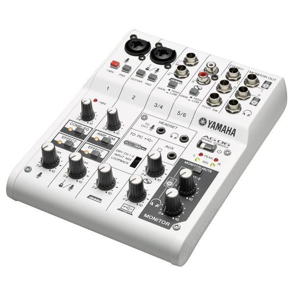 Yamaha AG06 6-Channel Hybrid Mixer