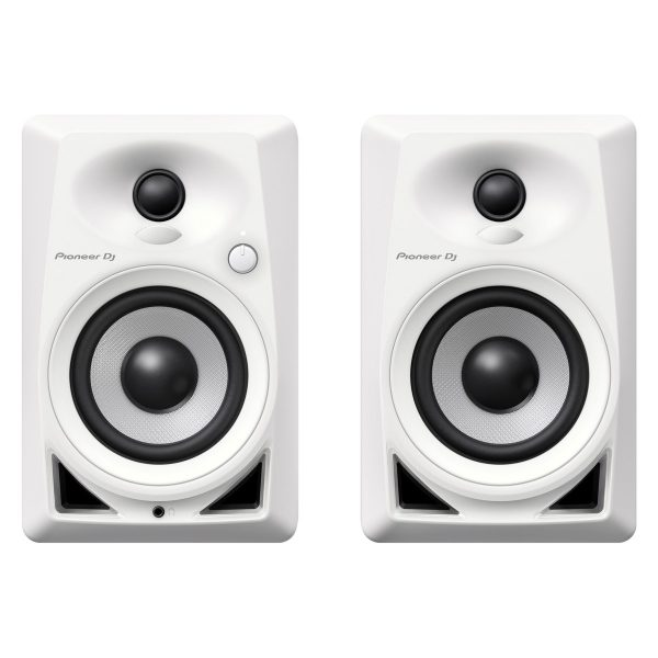 Pioneer DM-40 Active Monitor Speakers, White