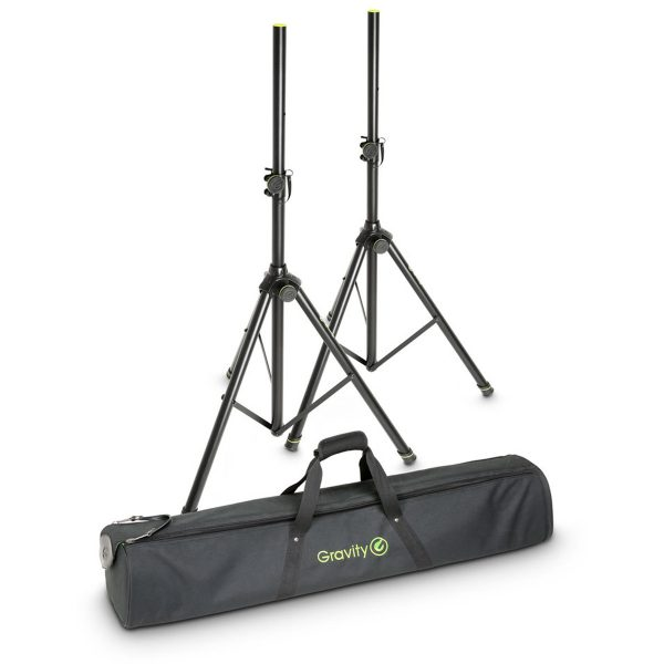 Gravity GSP5211B Speaker Stands With Carry Bag