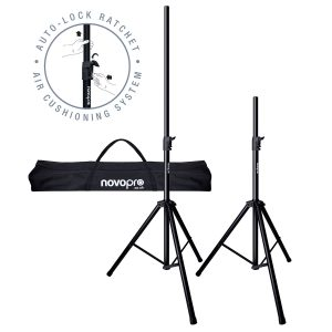 Novopro SS3R Speaker Stand Kit With Bag