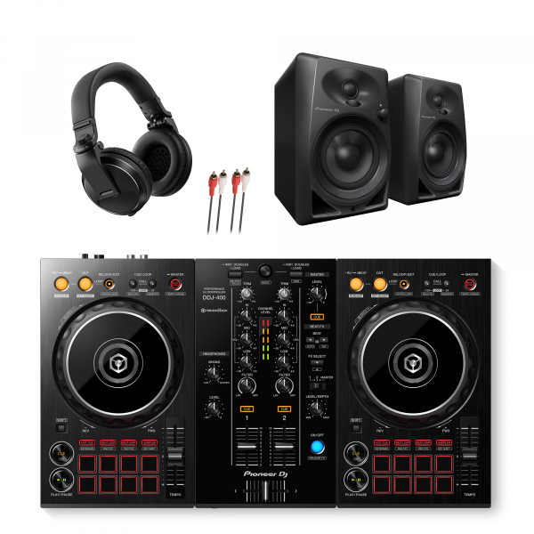 Pioneer DDJ-400, DM-40 and HDJ-X5 DJ Package