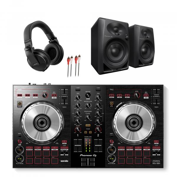 Pioneer DDJ-SB3, DM-40 and HDJ-X5 DJ Package