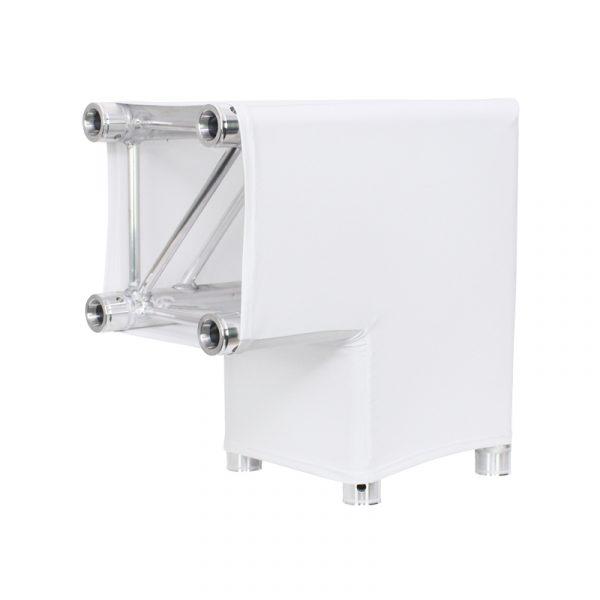 LEDJ White 2 Way 90 Degree Corner Quad Truss Sleeve/Sock