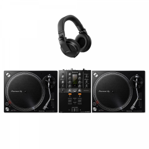 Pioneer PLX-500 Turntable, DJM-250MK2 and HDJ-X5 DJ Package