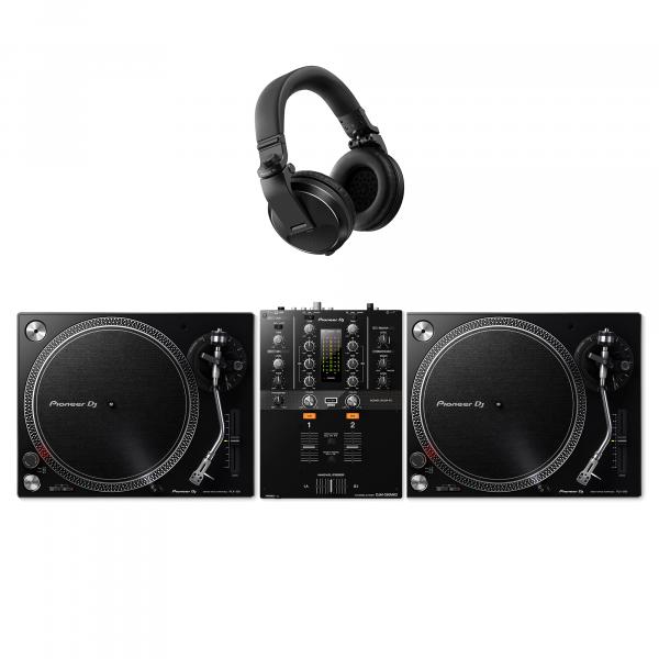 Pioneer PLX-500 Turntable, DJM-250MK2 and HDJ-X5 DJ Package