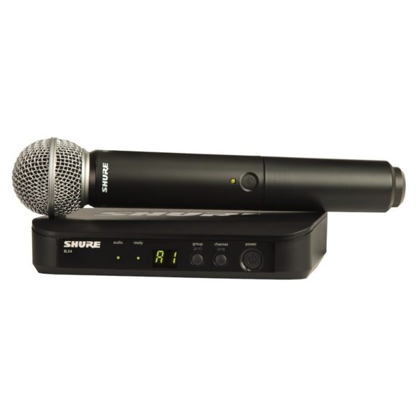 Shure BLX24UK/SM58 Handheld Wireless Mic System