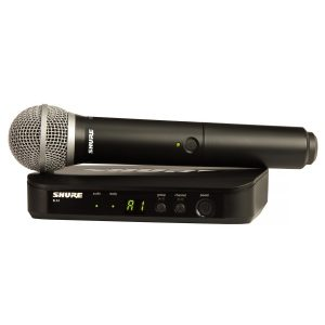 Shure BLX24UK/PG58-K3E Handheld Wireless Microphone System