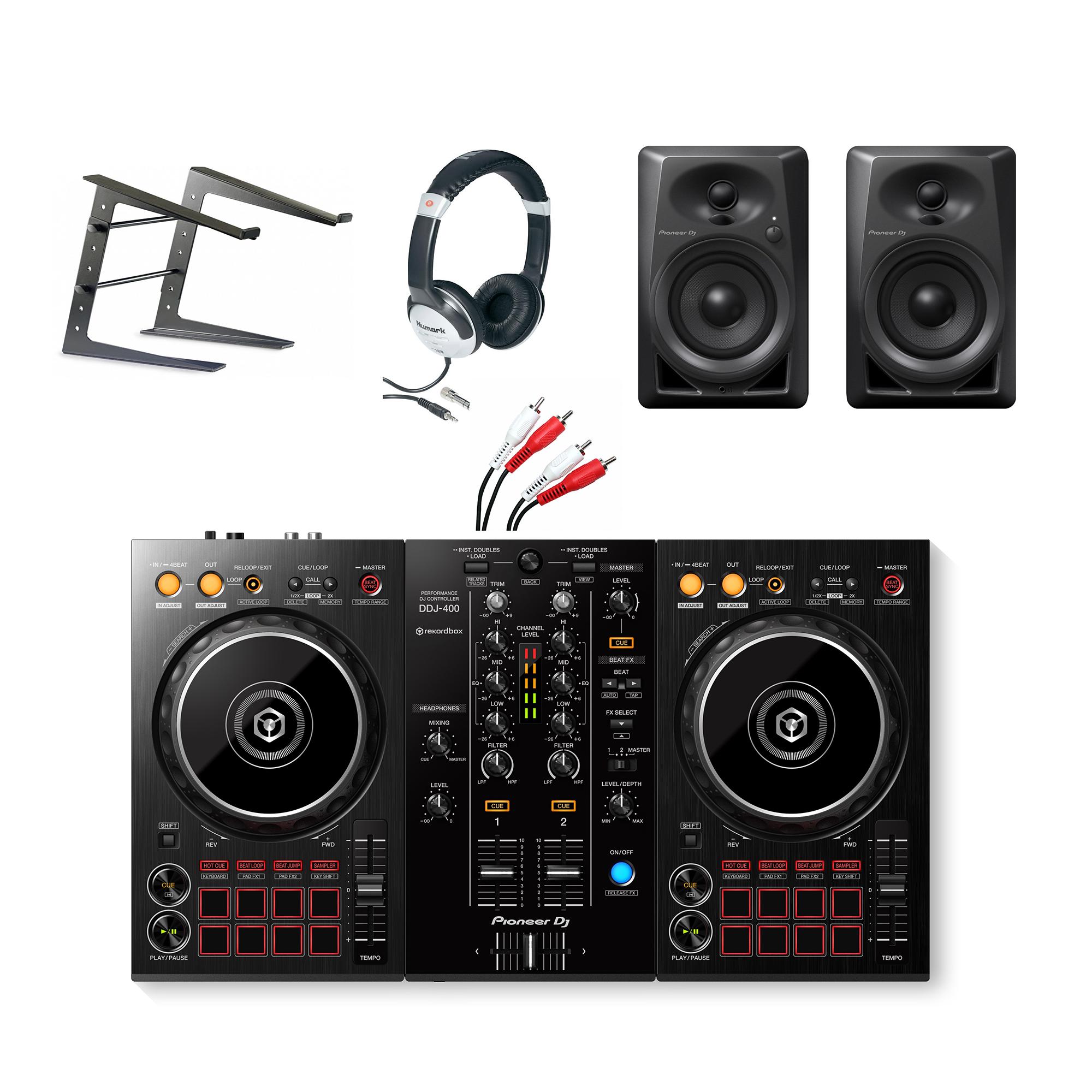 pioneer ddj 400 complete starter dj equipment package. Black Bedroom Furniture Sets. Home Design Ideas