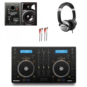 Numark Mixdeck Express / M-Audio AV32 / Numark HF125 DJ Package