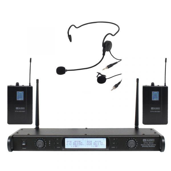 DTM 800 Twin Beltpack Diversity System (863.0Mhz-865.0Mhz)