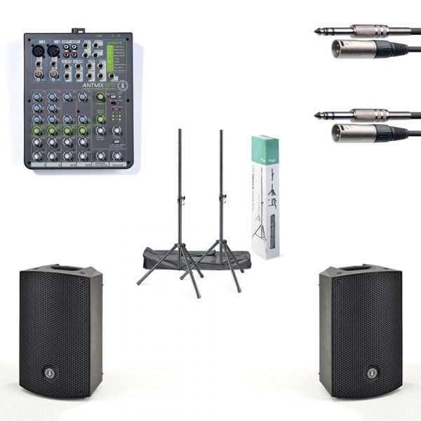"""ANT 10"""" PA Speaker and Mixer Package"""