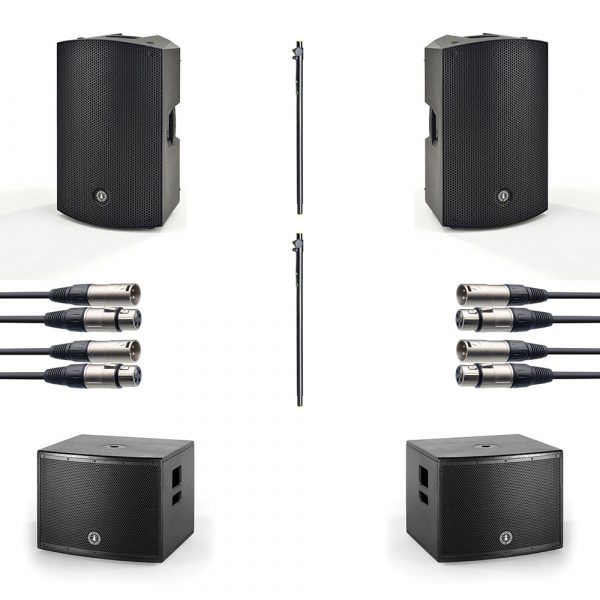 "ANT 15"" PA Speaker and 15"" Subwoofer Package inc. free 15"" covers"