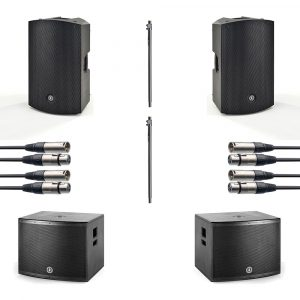 "ANT 15"" PA Speaker and 18"" Subwoofer Package inc. free 15"" covers"