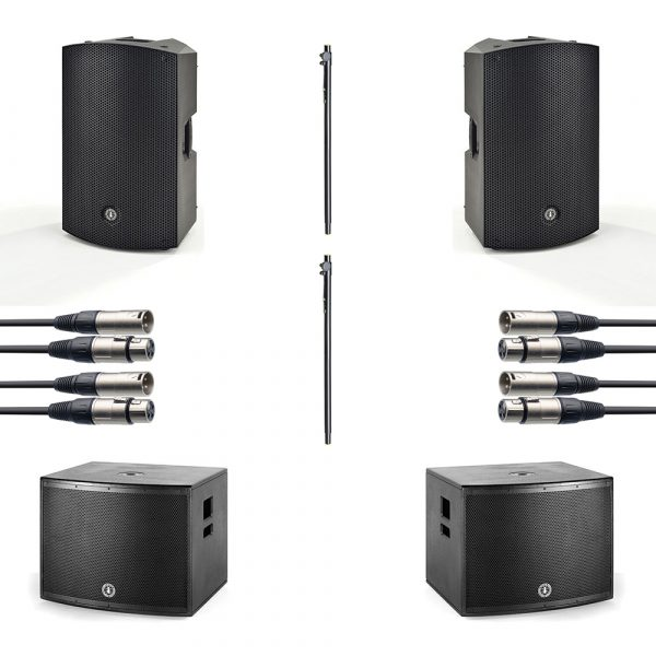 """ANT 15"""" PA Speaker and 18"""" Subwoofer Package inc. free 15"""" covers"""