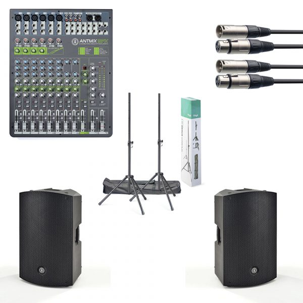 """ANT 15"""" PA Speaker and Mixer Package"""