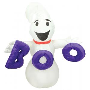 Inflatable 4ft Ghost With Boo