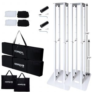 Novopro PS1XL height adjustable podium/plinth stand bundle