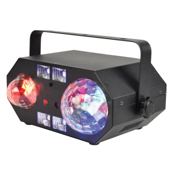 QTX Tetra LED Moonflower + Ripple + Strobe/UV + Laser Effect