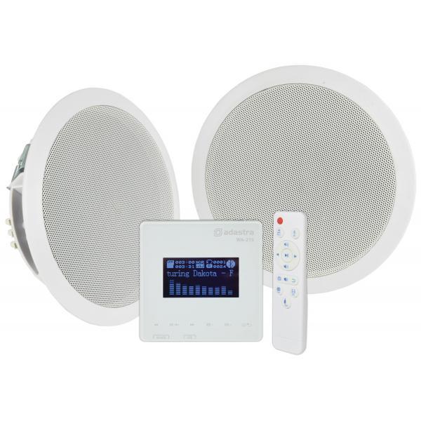 Adastra In-Wall Bluetooth Amplifier & Ceiling Speaker Set WA-215