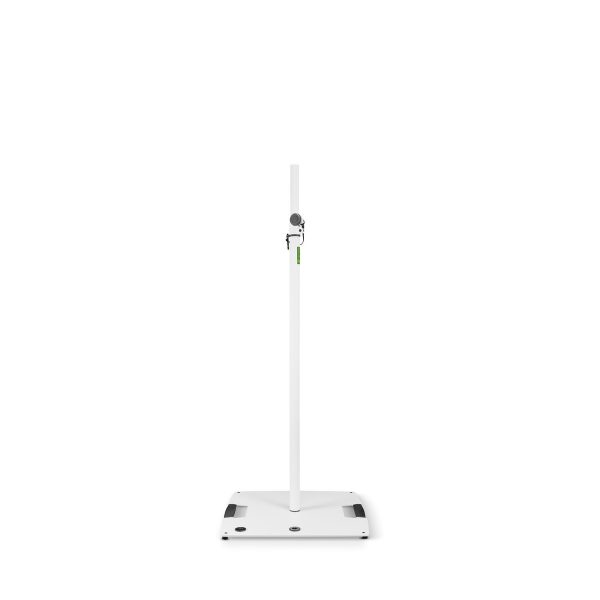 Gravity LS431W Square Base Steel Lighting Stand, White