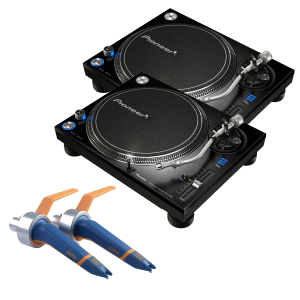 Pioneer PLX-1000 with Ortofon Concorde DJ MKII (Twin Pack) Package