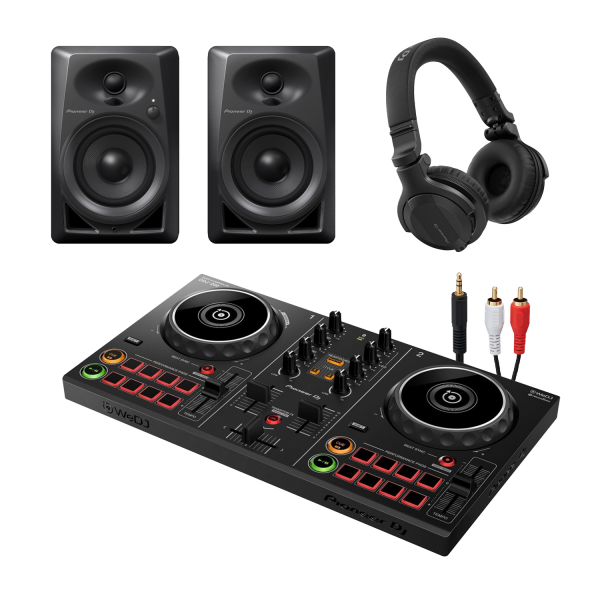 DDJ-200 Smart DJ Controller with DM-40 Monitors and HDJ-CUE1 Headphones