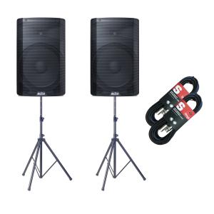Alto TX215 600 Watt Active Speakers With Stands, Pair