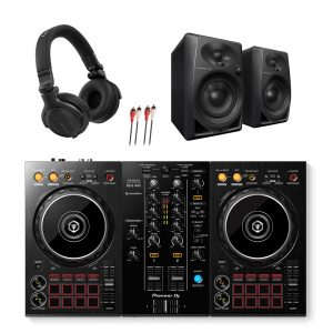 Pioneer DDJ-400 DJ Controller with DM-40 Monitors and HDJ-CUE1 Headphones