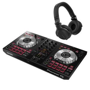 Pioneer DDJ-SB3 with Pioneer HDJ-CUE1 Headphones