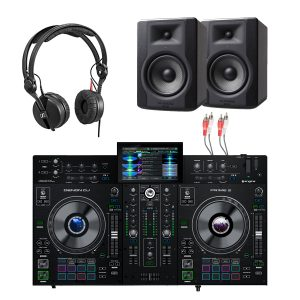 Denon DJ Prime 2 2-Deck Smart DJ Console & M-Audio BX5 Package
