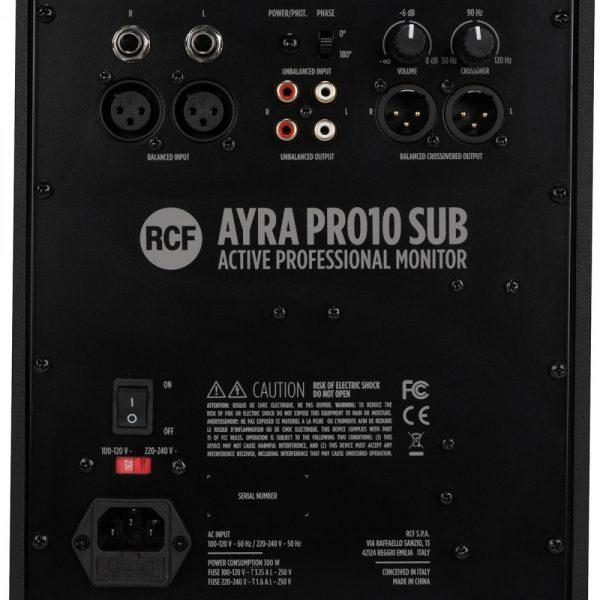 """RCF AYRA PRO10S ACTIVE 10"""" MONITOR SUB"""