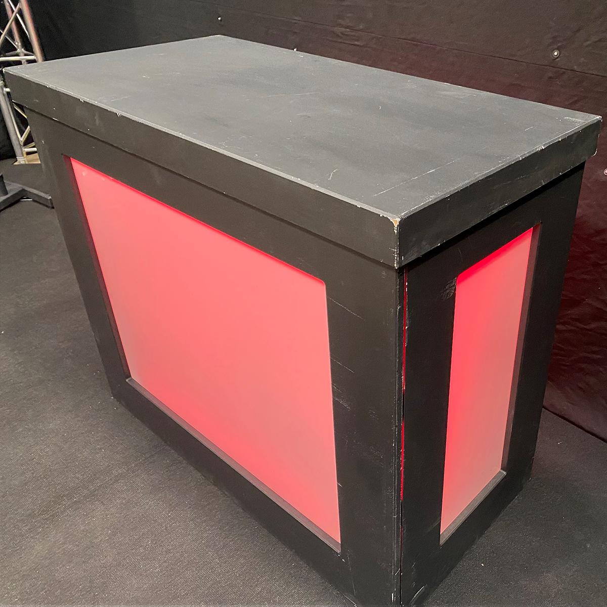 Black DJ Pod (With LED Illumination) Hire