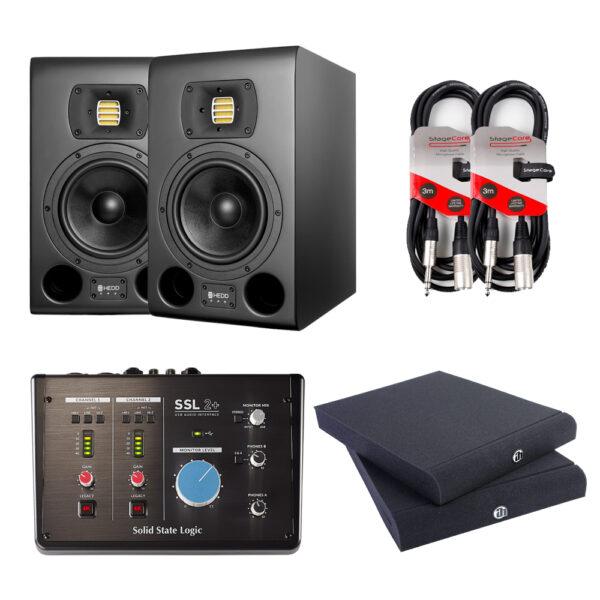 HEDD Type 07 MK2 Black Studio Monitor Package