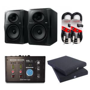 Pioneer DJ VM-70 Active Monitor Speaker Package