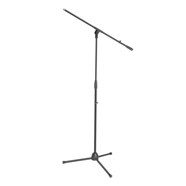 Adam Hall S 5 BE Mic stand black with boom arm